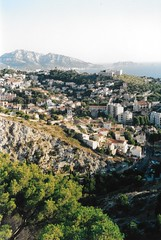 Marseille (iampaulrus) Tags: france marseille olympus az210 analog analogue 35mm film35mm scannedprint city cityscape town