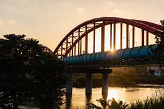 Taipei Bike Ride (Dooquie) Tags: zhongzhengdistrict taipei taiwan tw xindiandistrict newtaipeicity taipeicycle taipeitaiwan sunset bridge bridges adventure fun