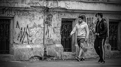 Bratislava Streets,,,, (Kevin Povenz Thanks for all the views and comments) Tags: 2018 october kevinpovenz bratislava slovakia blackandwhite bw streetphotography street downtown guys men male walking canon7dmarkii graffiti sidewalk outside outdoors cement