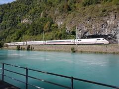 Aare River in Interlaken 4 (SierraSunrise) Tags: switzerland europe interlaken train railroad