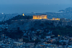 Athens (Maciej Dusiciel) Tags: architecture architectural city urban panorama cityscape thebluehour longexposure travel athens greece parthenon europe world sony alpha