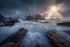 The Last Hours (Ryan Dyar) Tags: norge ryandyar lofotentours storm sunset mountains mountain ocean coast vareid fjord norway lofotenislands lofoten