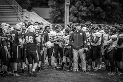 The Longest Game (Phil Roeder) Tags: desmoines iowa desmoinespublicschools hooverhighschool northhighschool football highschoolfootball sport athletics blackandwhite monochrome canon6d canon70200mmf28