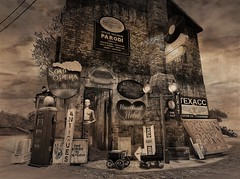 All The Rusty Gacha In The World (ᗷOOᑎᕮ ᗷᒪᗩᑎᑕO) Tags: secondlife sl soul2soul oil painting landscape mediterranean village coastline cote dazur northern italy north majorca flicker blogger photos galore landscaped designed minnieatlass tree sky grass vintage retro signage rusty gold thrift shop american pickers gacha heaven sign building med lifestyle flickr land new 2018 may rentals fantasy living dream sun sunny climate sea sand other photography road applefall 8f8