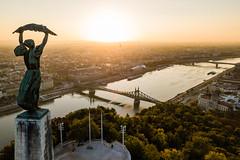 Budapest sunrise (ferenckobli) Tags: budapest drone dji mavic pro duna danube gellert hill citadella sunrise sun lights hungary