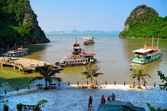Beautiful Ha Long Bay, Vietnam (adamba100) Tags: asia asian china chinese korea korean mongolia mongolian vietnam vietnamese thai beijing town city view landscape cityscape street life lifestyle style people human person man men woman women male female girl boy child children kid interesting portrait innocent cute charm pretty beauty beautiful innocence play face headshot pure purity tourism sightseeing tourist travel trip light color colour outdoor traditional cambodia cambodian phnom penh sony a6300 18105 siem reap pattaya bangkok field gate architecture tree building