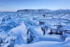 Tempelfjord  Svalbard islands (yan08865) Tags: pavlis norway ice glacier icebergs frozen sea seascape mountains tempelfjord arctic polar night twilight svalbard island longyearbyen spitsbergen landscapes seascapes travel adventures north nordic snow snowmobiles blue light landscape rock sky greatphotographers scandinavia