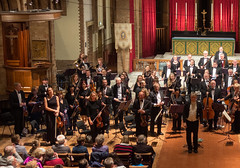 DSCN0355left Ealing Symphony Orchestra. Leader Peter Nall. Conductor John Gibbons. St Barnabas Church, west London. 6th October 2018 (Paul Ealing 2011) Tags: ealing symphony orchestra eso 6 october 2018 conductor john gibbons leader peter nall st barnabas church west london pitshanger lane w51qg w5 1qg england concert classical