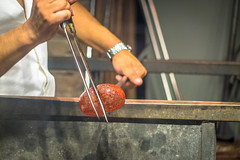 The glass making demonstration on Murano in Italy was amazing.  This is done at temperatures from 500 - 1000 degrees.