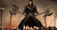 for the glory (ɢɛȶ ʟʊƈкʏ Model/Performer) Tags: glory forge noble creations axe armor cloak warrior giant slayer spiked skull hero champion ramasalon