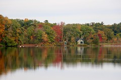 House on the Pond (Read2me) Tags: autumn pree cye trees leaves jacobspond house reflection storybookotrsweepwinner ge challengeclubwinner thechallengefactorywinner