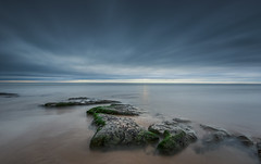 Cresswell (ianbrodie1) Tags: cresswell longexposure beach rocks moss green water ocean sea seascape nikon sky cloud coast coastline lee filters
