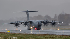 54+18 German Air Force Airbus A400M-180- 069 (Otertryne2010) Tags: 2018 2k18 enva norge norway trd trondheim værnes airbus a400m german air force airforce a400m180 rain trident juncture nato exercise beaconshot