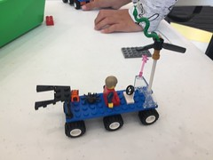 Flying tractor with boosters