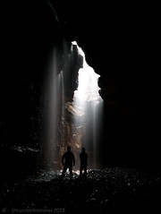 Silhouette (theyorkshireminer) Tags: yorkshire clapham cave bar pot gaping gill ingleborough york caving club single rope technique dales darkness below