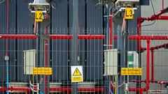 High Voltage (Szymon Simon Karkowski) Tags: outdoor high voltage fortum power plant electric installation ec plate warning industrial explore fence silesian voivodeship zabrze poland nikon d7100