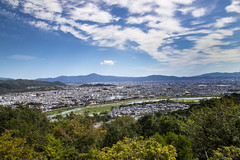 Kyoto View on the Iwatayama Monkey Park (Synghan) Tags: city cityscape arashiyama monkeypark hill hilltop highaltitude mound mountain sky photography horizontal outdoor colourimage fragility freshness nopeople foregroundfocus adjustment interesting awe wonder wideangle view highangle iwatayama kyoto japan clear bright longdistance scenic scenery landscape overview forest climbing hiking cool latesummer canon eos80d 80d sigma 1770mm f284 dc macro lens 아라시야마 몽키파크 교토 풍경 도시 일본