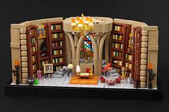 Dumbledore's Office (Legopard) Tags: lego moc dumbledore office hogwarts fawks harrypotter