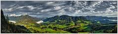 Stodertal Panorama (Karl Glinsner) Tags: landschaft landscape österreich austria oberösterreich upperaustria outdoors himmel sky wolken clouds berge mountains gebirge stodertal vorderstoder totesgebirge