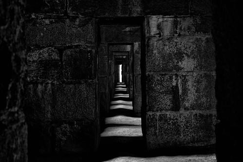 Light Crossing Corridor