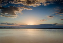 Sometimes you just need to take a moment (Lisa M / /) Tags: sea sky water beach bribieisland queensland australia sunset sand ocean bay landscape seascape serene
