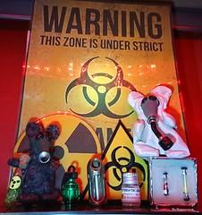 Radiation Boihazard Mouses (Bo Ragnarsson) Tags: radiation biohazard fallout mouse mouses radioactive beacon tritium nålfiltning needlefelting
