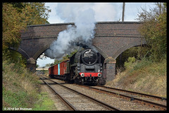 No 92214 Leicester City 7th Oct 2018 Great Central Railway Steam Gala (Ian Sharman 1963) Tags: no 92214 leicester city 7th oct 2018 great central railway steam gala class 9f 2100 station engine rail railways train trains loco locomotive passenger heritage line gcr rothley brook swithland sidings quorn woodhouse loughborough woodthorpe
