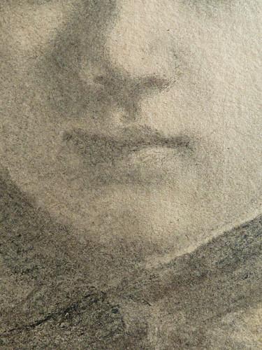 DEGAS Edgar,1858-67 - La Famille Bellelli, Giovanna, Etude (Louvre RF16585) - Detail 08