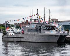 Boat_121928 (gpferd) Tags: boat flag harbor vehicle water baltimore maryland unitedstates us