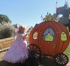A pumpkin coach is the only way to travel (rgaines) Tags: costume cosplay crossplay drag fairyprincess fairygodmother coxfarms cinderella