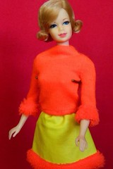 VINTAGE MOD STACEY BLOND SHORT FLIP TNT BARBIE DOLL w/ HOORAY FOR LEATHER OUTFIT (laika*2008) Tags: 1960s tnt fashiondoll japan mattel vintagebarbie outfit hoorayforleather barbie doll stacey mod vintage