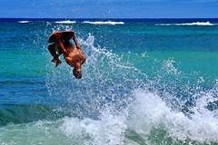 Surfer | Kauai Hawaii (Paul Tocatlian | Happy Planet) Tags: surfer surfing actionshot waves ocean pacific pacificocean kauai hawaii happyplanet jump splash paultocatlian