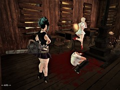 Day 31 - Serial Killer and Victims (KoreRae) Tags: cute halloween halloweencostumechallenge serialkiller killer victims innocent blood dead dashion sl secondlife arranmore chainsaw psycho cutebutpsycho cutelittlepsycho