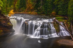 Lower Lewis Falls Autumn (Cole Chase Photography) Tags: washington pacificnorthwest autumn
