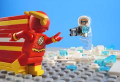 vs Cold (-Metarix-) Tags: lego minifig dc comics comic flash captain cold barry allen leonard snart rebirth universe pre new 52