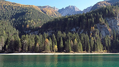Lake Tovel (ab.130722jvkz) Tags: italy trentino alps rhaethianalps brentadolomites mountains lakes autumn