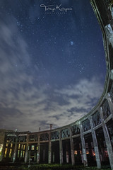 Under the Pleiades star cluster (tetsuyakatayama) Tags: night nightscape nightview sky skyscape star starlight cloud nature architecture remains roundhouse oita japan bungomori