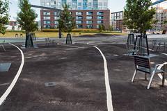 Kalasatama Park (2) (pni) Tags: park pavement paint line chair tree playground building grass kalasatama fiskehamn helsinki helsingfors finland suomi pekkanikrus skrubu pni