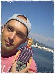 Walk with Ken (Brani's fashion dolls) Tags: dolls greece sea holiday resort beachbarbie nea iraklitsa fashiondolls kenfashionistas rebodieddolls branimirmladenov