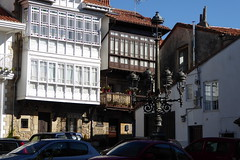 Comillas houses balconies & Street lamps (martinrstone) Tags: architecture balconies woodenbalconies streetlamps