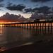 Sunset over the Venice Fishing Pier, Venice, Florida