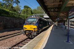 DRS 68033 - Edinburgh Waverley (Neil Sutton Photography) Tags: 68033 beaconrailleasing canon class68 drs drslivery dieselelectric diesellocomotive edinburgh edinburghwaverley eurolight fifecircle railway scotrail scotland scotlandsrailway train uklight loco locomotive