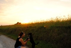 Silvia, Penny e il tramonto (2) - Silvia, Penny and the sunset (stella.iloveyou) Tags: gaggiano vitaintornoame lifearoundme bassapadanamilanese