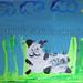 """White Pandas"" by IG, mixed media, $20.00"