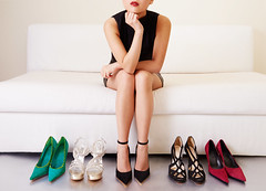 Woman thinking on sofa with many shoes.Shopping (Havana Store) Tags: shoes heels legs choosing woman heel shoe fashion sofa model buy choose green white retail foot red adult glamour footwear sit people black female elegant leg lady women sale lifestyle girl collection high body person long beauty choice store elegance style beautiful background party shop try sexy sitting thinking offer japan