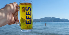 Pint Efes please. . . (CWhatPhotos) Tags: cwhatphotos efes seaside beach drink lager beer glass pint olympus digital camera photographs photograph pics pictures pic picture image images foto fotos photography artistic that have which with contain artistc resort fun hol holiday september 2018 turkey holidays marmaris turkish various