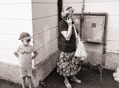 Unplug (Tom Levold (www.levold.de/photosphere)) Tags: sw street candid germignaga fuji bw x100f junge boy telephone telefonat