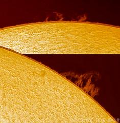 protuberancias solares 10/10/2018 (Jordi Sesé) Tags: sun solar prominences asi290mm pstmod