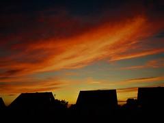 Brayton Village Sunset (Gary Chatterton 4 million Views) Tags: sunset clouds colours orange sun evening nightfalling sky weather brayton selby northyorkshire houses silhouettes