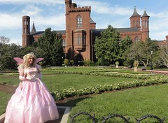 Every princess needs a castle! (rgaines) Tags: costume cosplay crossplay drag fairyprincess fairygodmother glindathegoodwitch smithsonian nationalmall smithsoniancastle